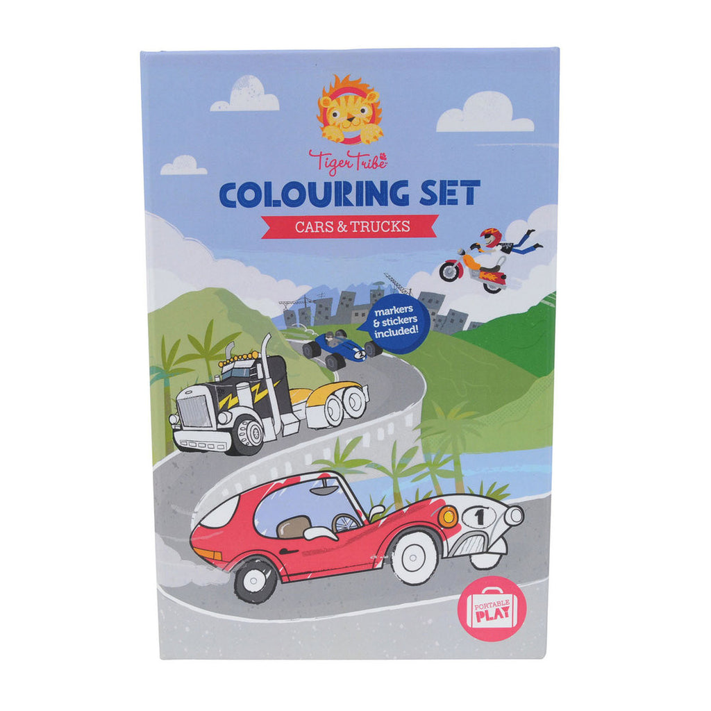 TIGER TRIBE Colouring Set - Cars & Trucks - Rourke & Henry Kids Boutique