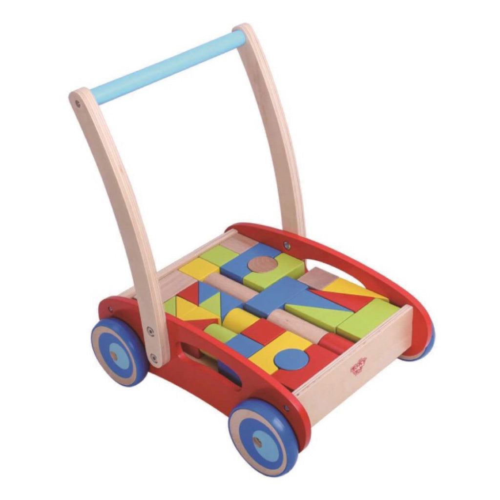 Push-A-Long Cart with blocks - Rourke & Henry Kids Boutique