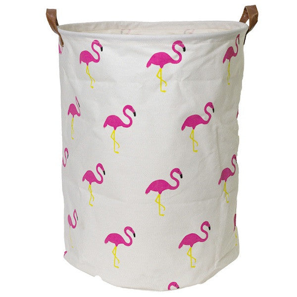 Canvas Storage Basket - Flamingo - Rourke & Henry Kids Boutique