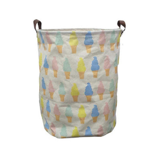 Canvas Storage Basket - Ice Cream - Rourke & Henry Kids Boutique