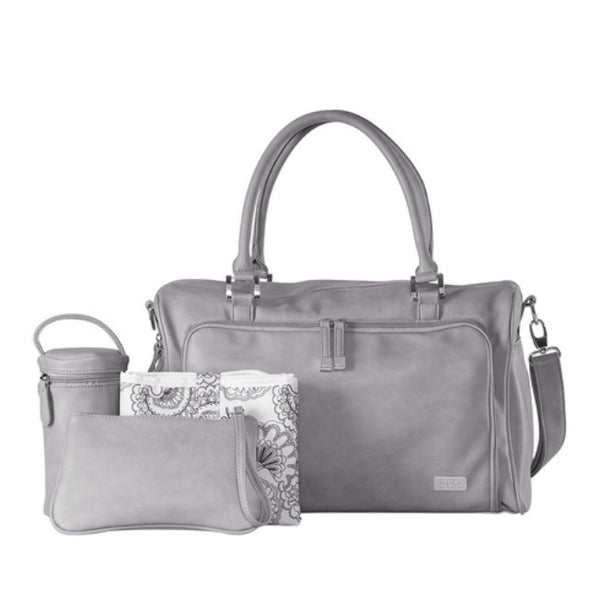 Isoki Nappy Bag Double Zip Satchel - Portsea - Rourke & Henry Kids Boutique