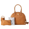 Isoki Nappy Bag Madame Polly - Amber Tan - Rourke & Henry Kids Boutique