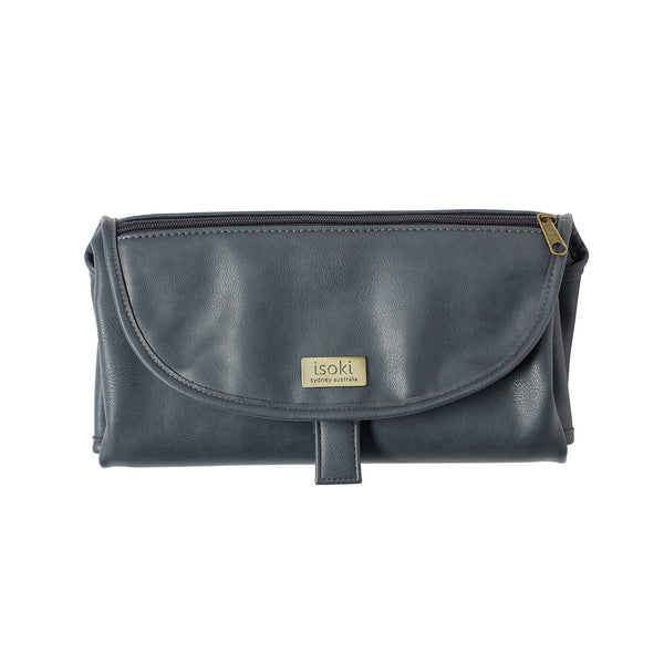 Isoki Change Mat Clutch - Balmain Charcoal - Rourke & Henry Kids Boutique