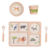 Love Mae - Bamboo Dinnerware 5 piece set On Safari - Rourke & Henry Kids Boutique