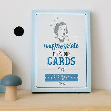 Inappropriate Milestone Cards - Fur Baby (pet cards) - Rourke & Henry Kids Boutique