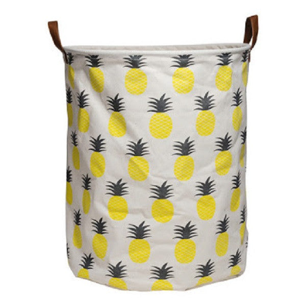 Canvas Storage Basket - Pineapple - Rourke & Henry Kids Boutique