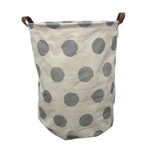 Canvas Storage Basket - Silver Spot - Rourke & Henry Kids Boutique
