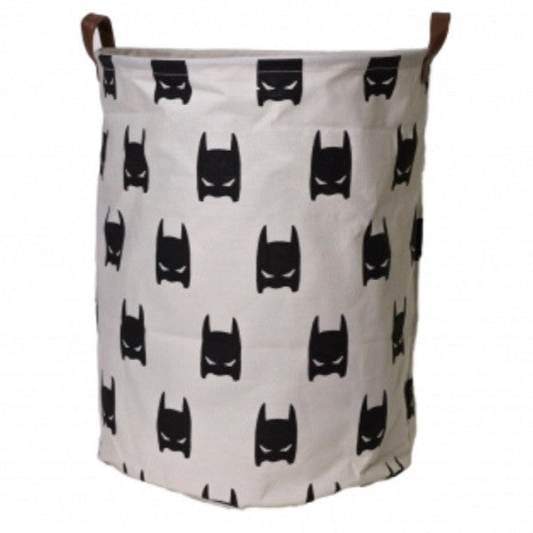 Canvas Storage Basket - Superhero Mask - Rourke & Henry Kids Boutique