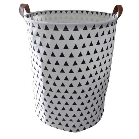 Canvas Storage Basket - Black Triangles