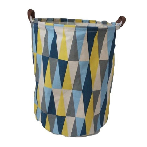 Canvas Storage Basket - Flags