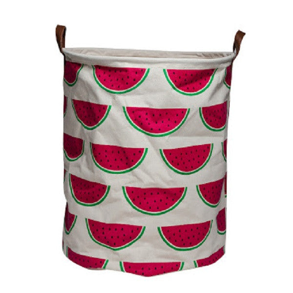 Canvas Storage Basket - Watermelon - Rourke & Henry Kids Boutique