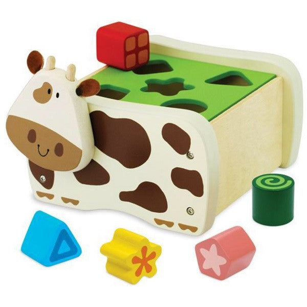 Wooden Geo Cow Sorter - Rourke & Henry Kids Boutique