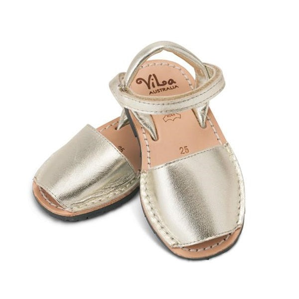 Vila Spanish Sandal - Metallic Gold Leather - Rourke & Henry Kids Boutique