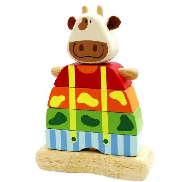 Wooden Stacking Cow - Rourke & Henry Kids Boutique