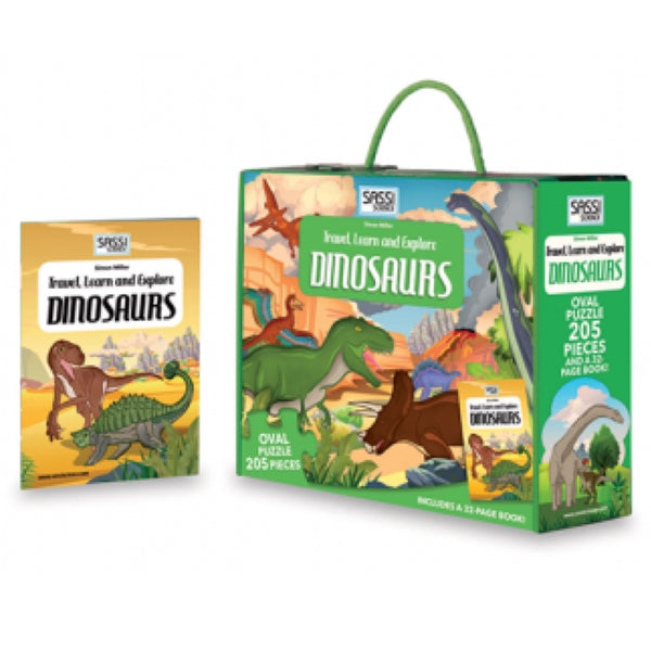 Learn and Explore Puzzle - Dinosaurs - Rourke & Henry Kids Boutique