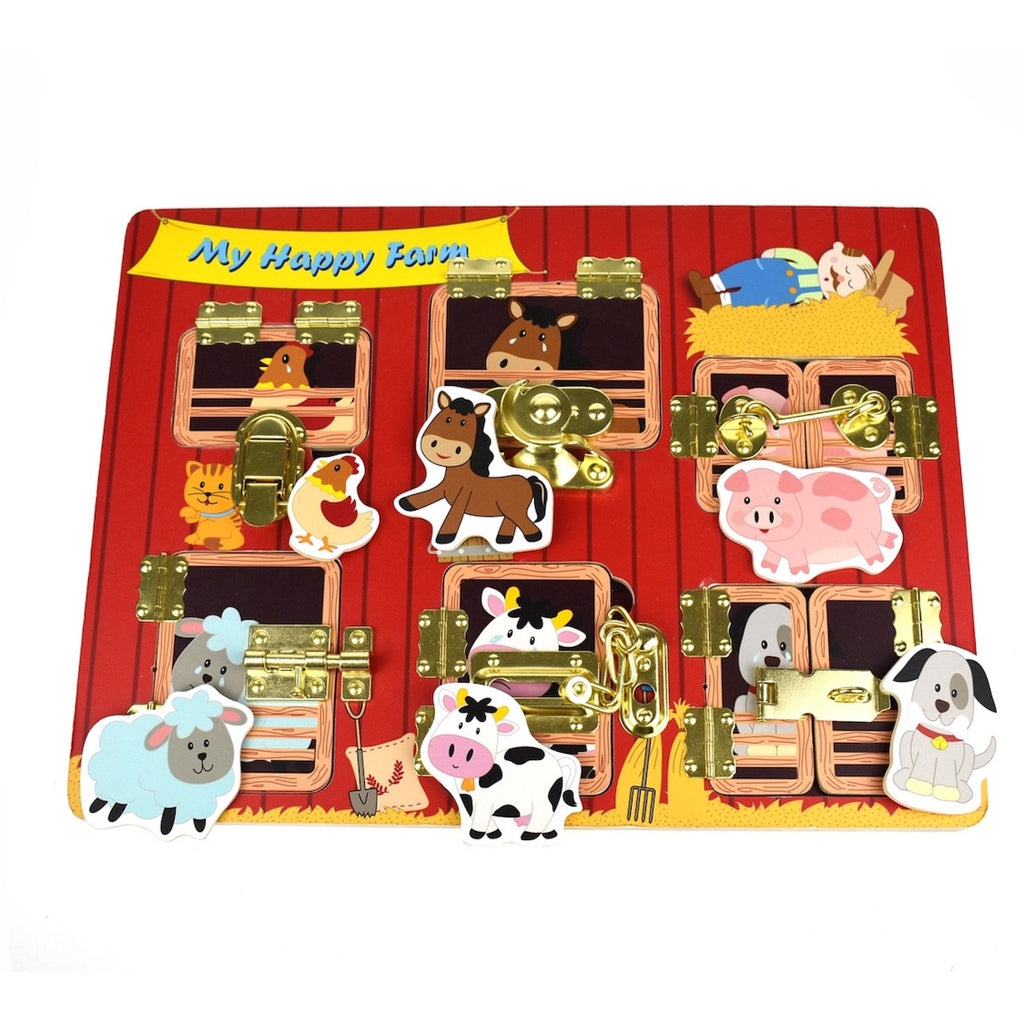 Wooden Latch Animal Puzzle