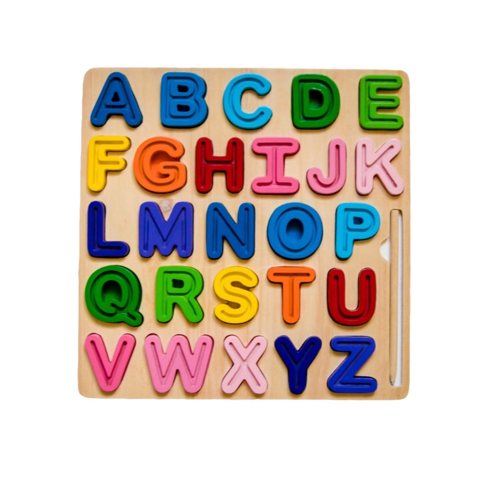 Wooden ABC Chunky Tracing Puzzle