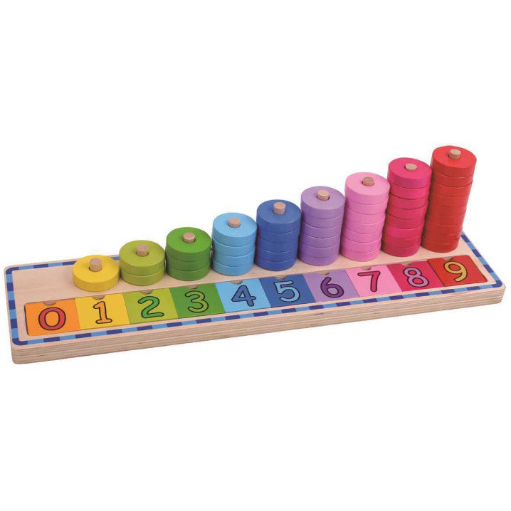 Wooden Disc Stacker - Rourke & Henry Kids Boutique