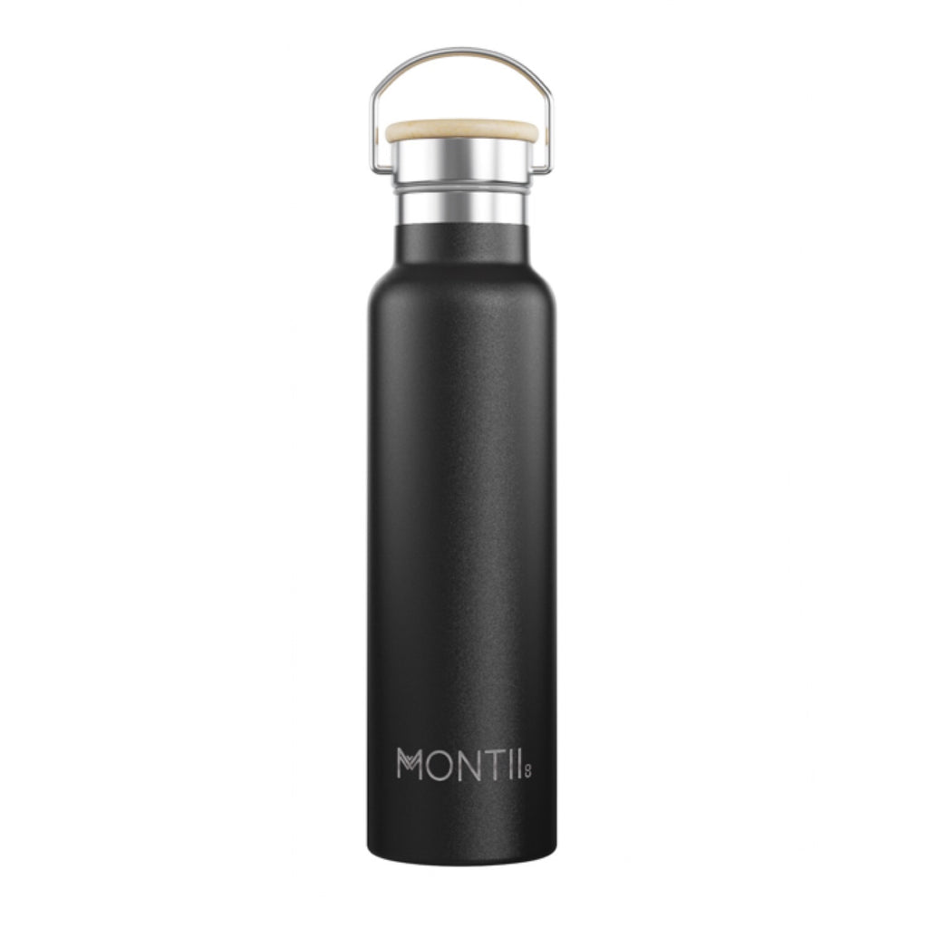 MontiiCo Insulated Drink Bottle - 1 litre Mega Montii Black