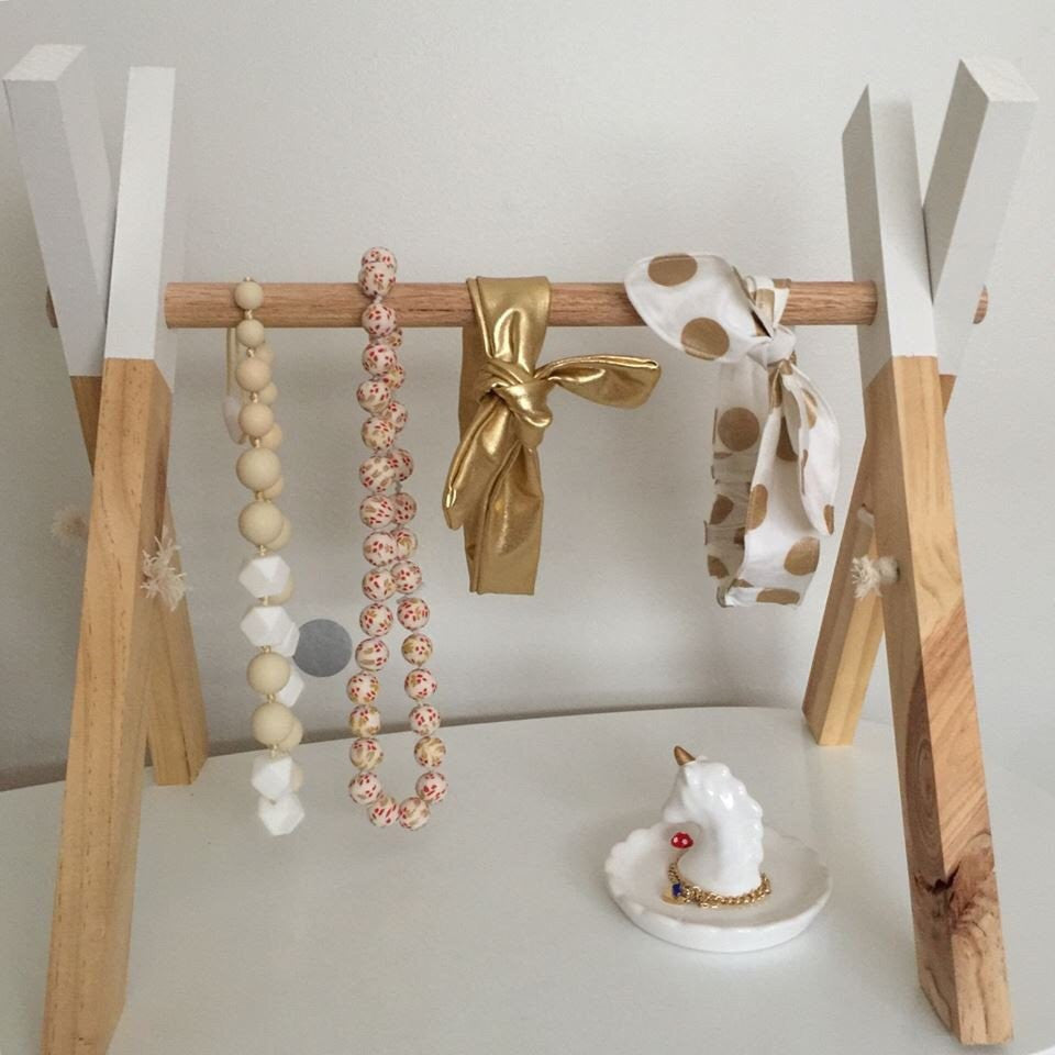 EMB creations - Wooden Accessories Rack Mini WHITE - Rourke & Henry Kids Boutique