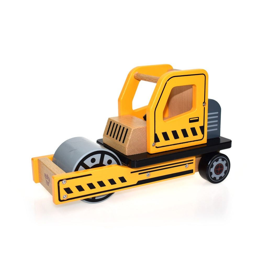 Wooden Vehicle Large - Road Roller