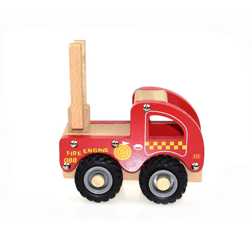 Wooden Vehicle - Fire Engine - Rourke & Henry Kids Boutique