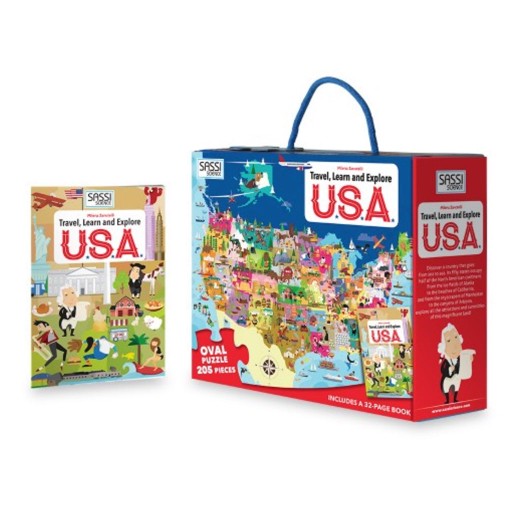 Learn and Explore Puzzle - USA - Rourke & Henry Kids Boutique