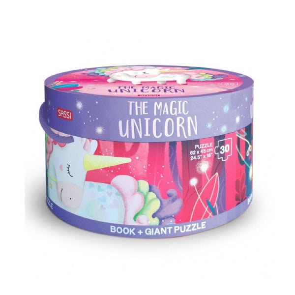 Giant Puzzle & Book - The Magic Unicorn - Rourke & Henry Kids Boutique