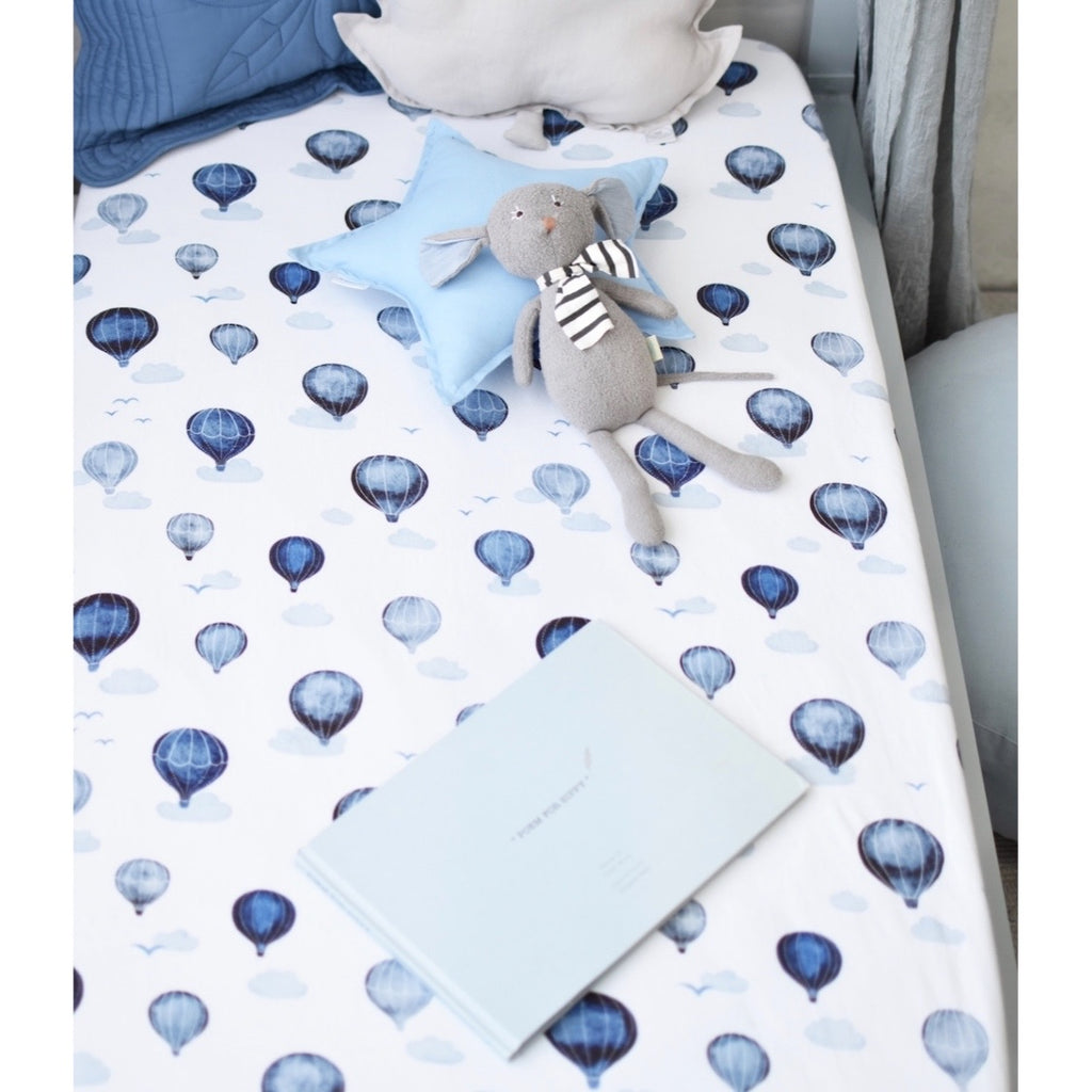 Snuggle Hunny Kids - Fitted Cot Sheet Cloud Chaser