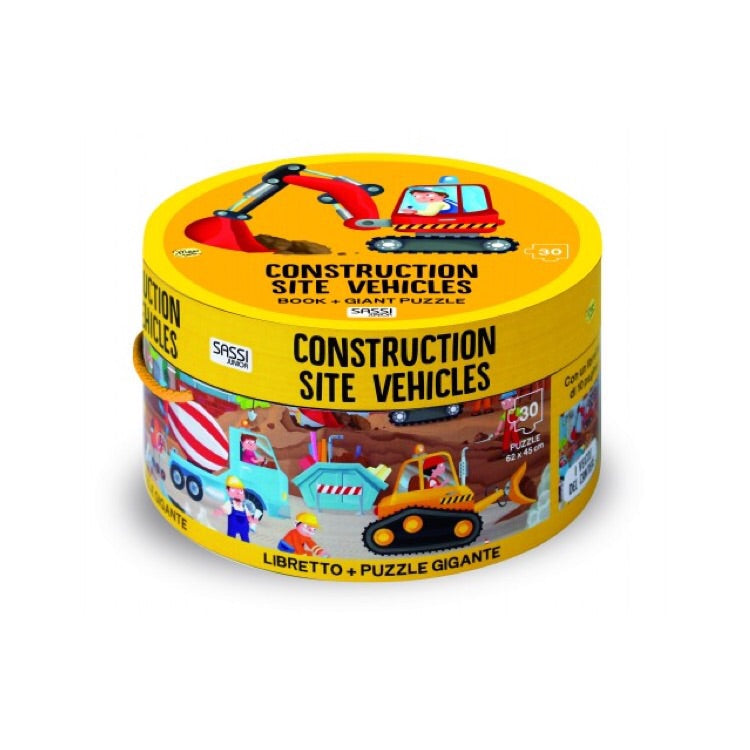 Giant Puzzle & Book - Construction Site Vehicles - Rourke & Henry Kids Boutique