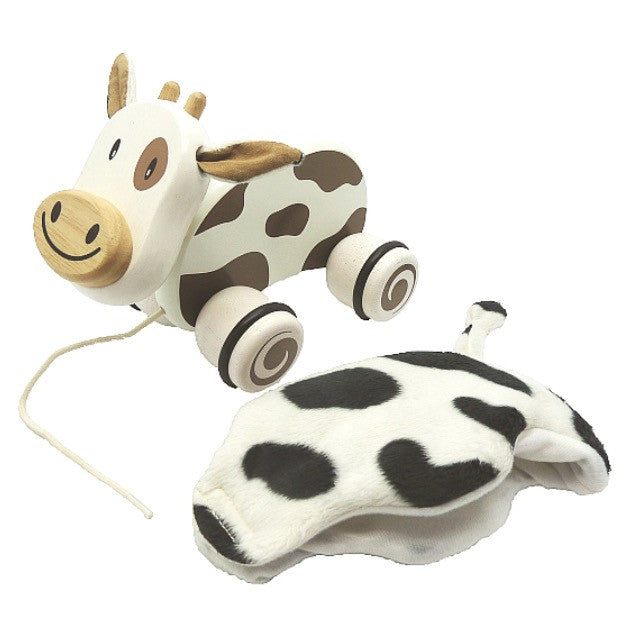 Wooden Pull Along Pet - Cow - Rourke & Henry Kids Boutique