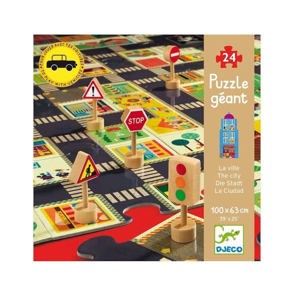 Djeco Puzzle - City Road Puzzle 24 Large Pieces - Rourke & Henry Kids Boutique