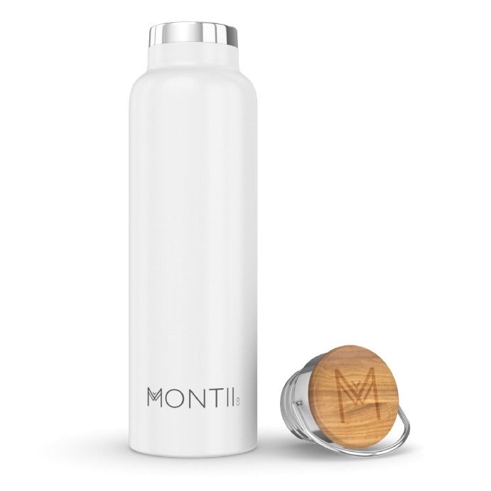 MontiiCo Insulated Drink Bottle - 600ml White - Rourke & Henry Kids Boutique