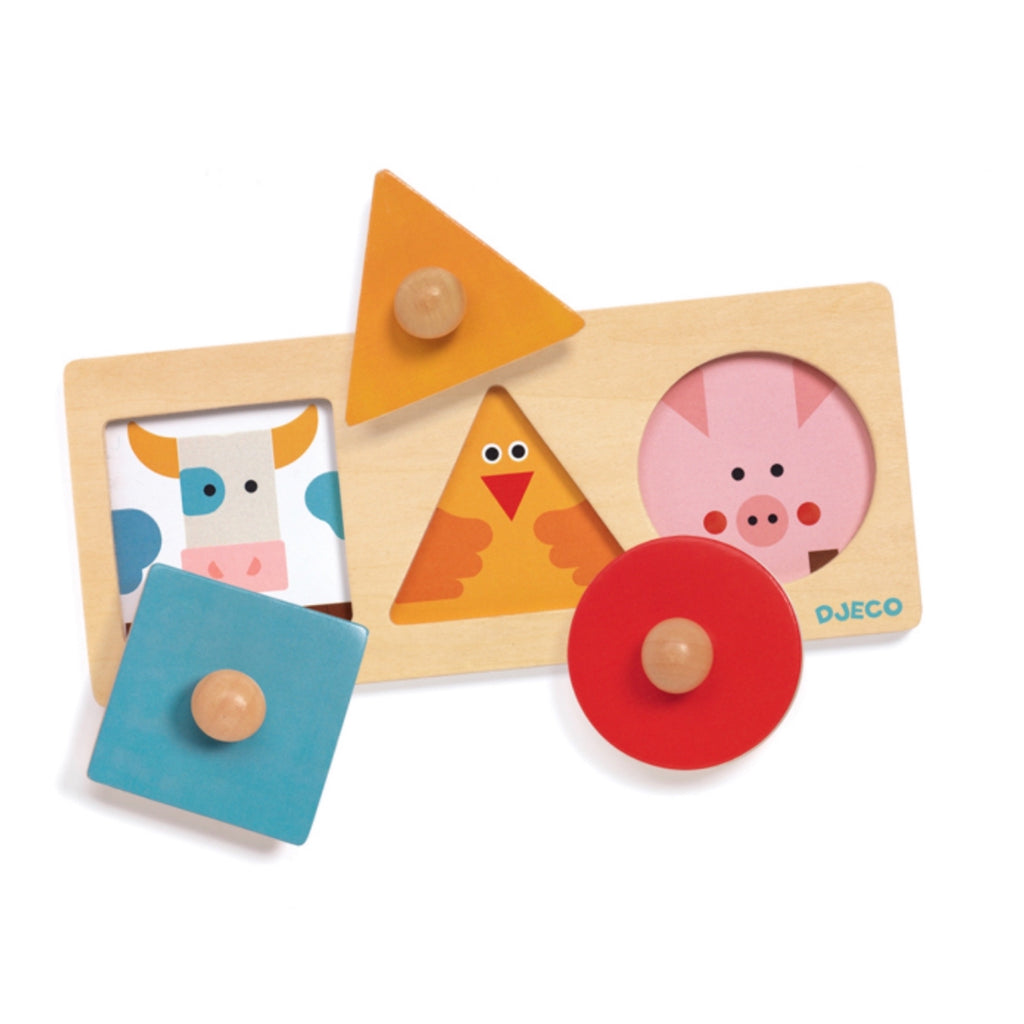 Djeco - Farm shape puzzle - Rourke & Henry Kids Boutique