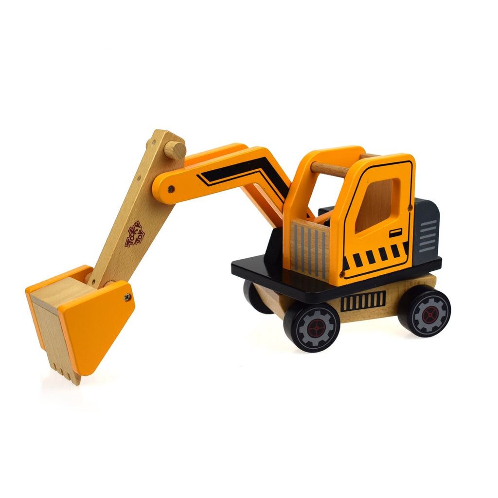 Wooden Vehicle Large - Excavator - Rourke & Henry Kids Boutique