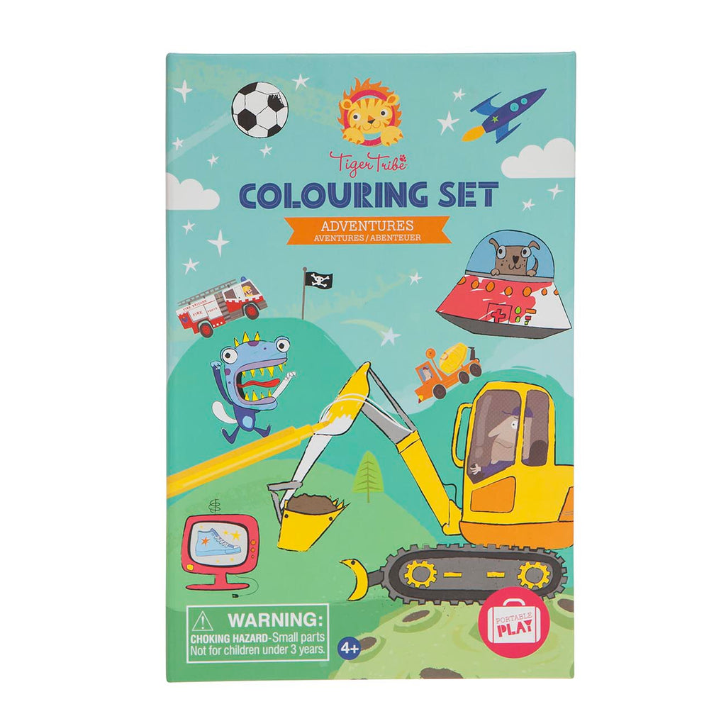 TIGER TRIBE Colouring Set - Adventures - Rourke & Henry Kids Boutique