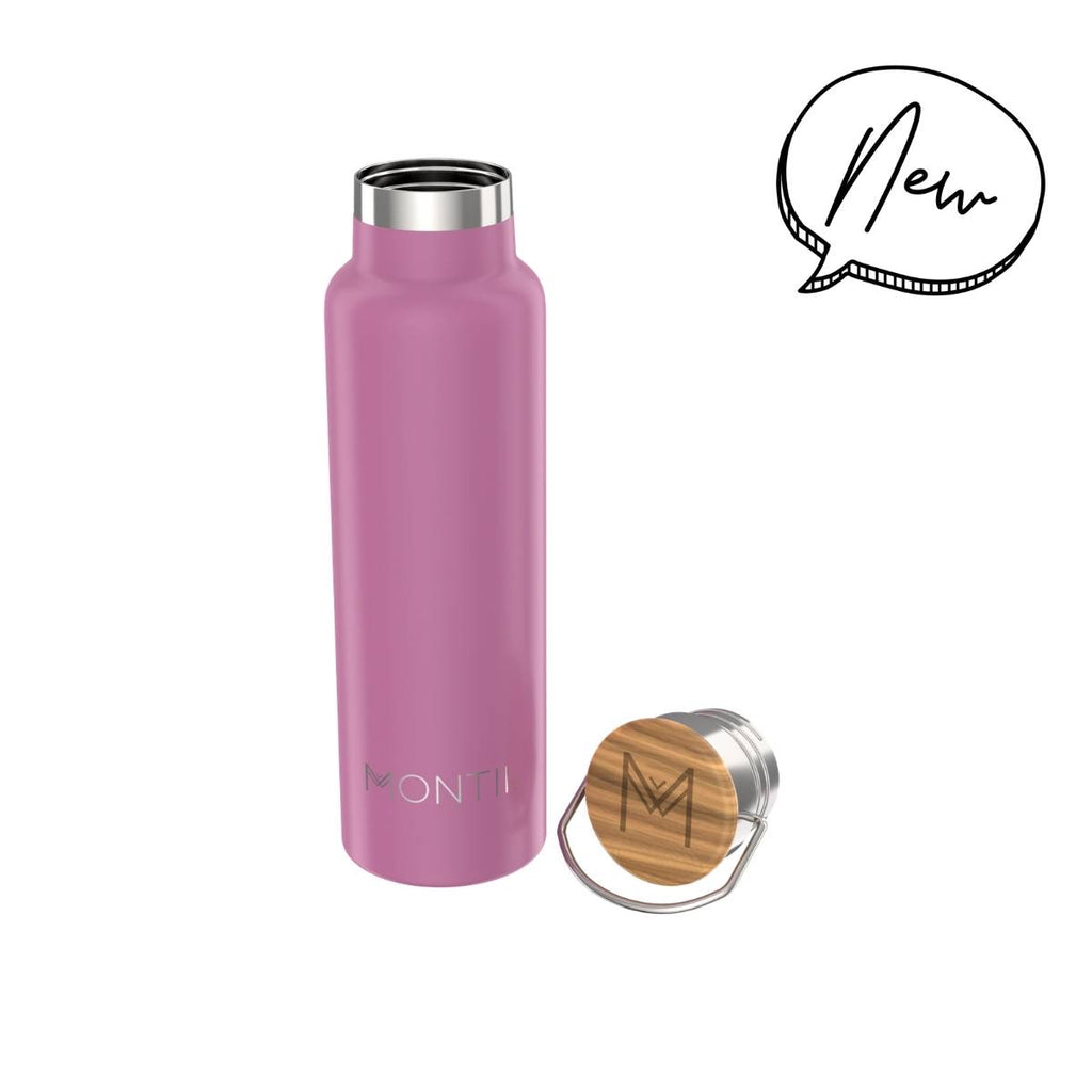 MontiiCo Insulated Drink Bottle - 600ml Rose
