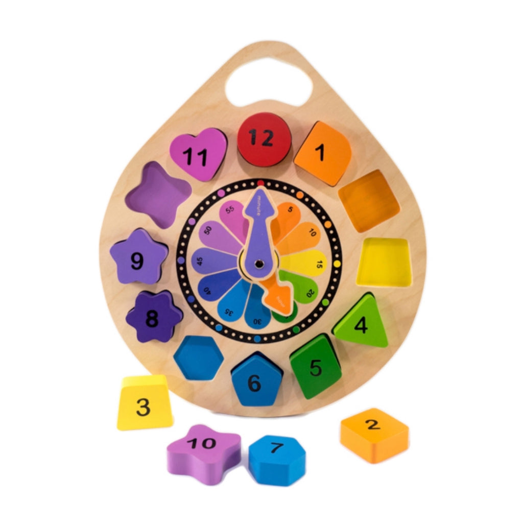 Wooden Clock Puzzle - Rourke & Henry Kids Boutique