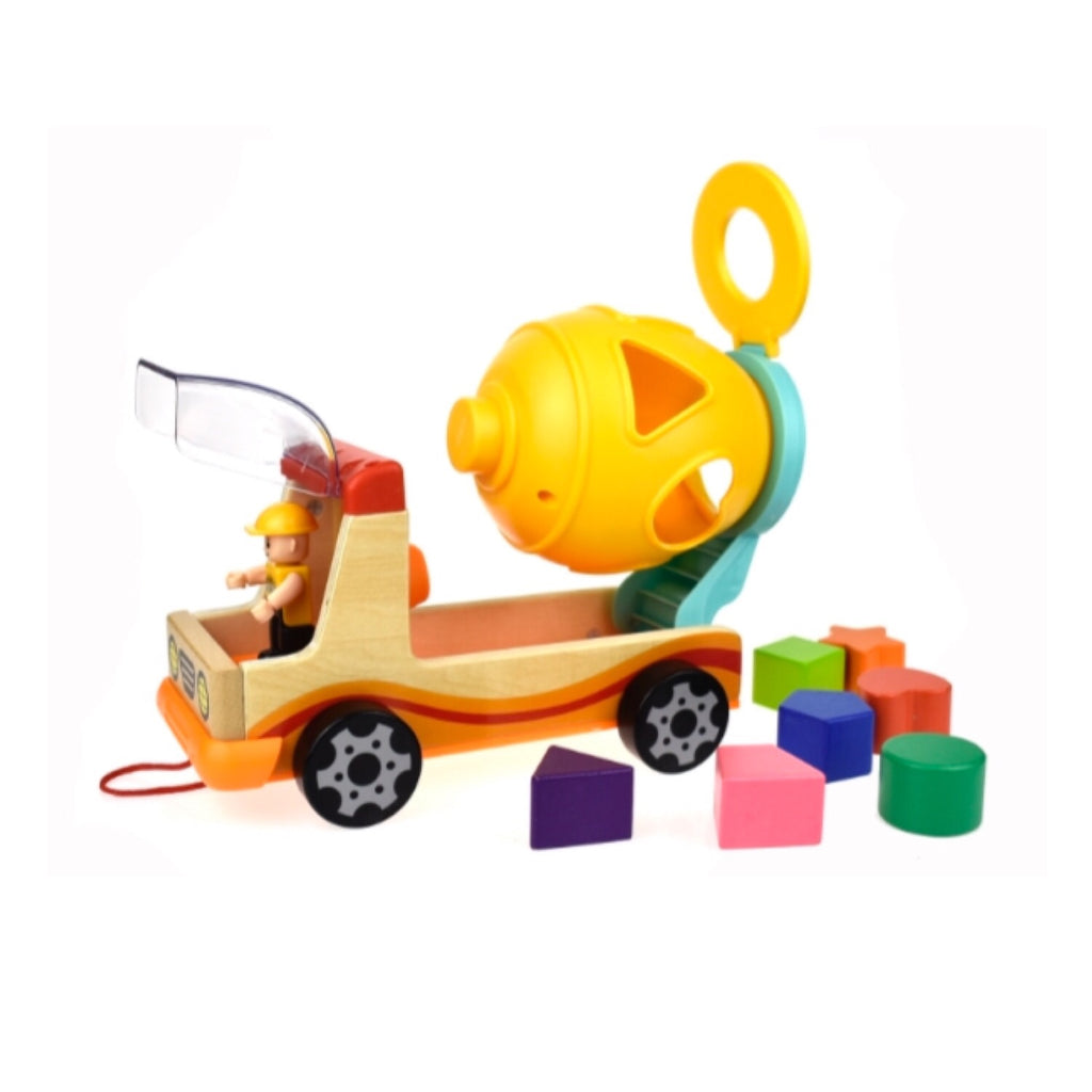 Mixer Truck Shape Sorter - Rourke & Henry Kids Boutique