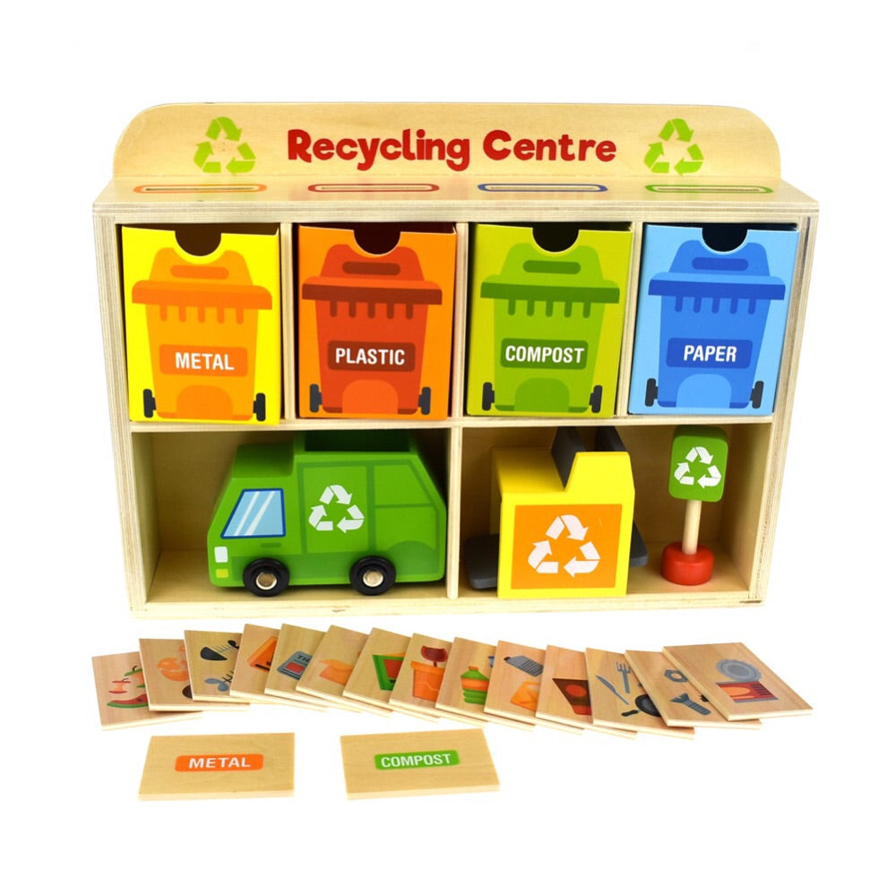 Wooden Recycling Centre - Rourke & Henry Kids Boutique