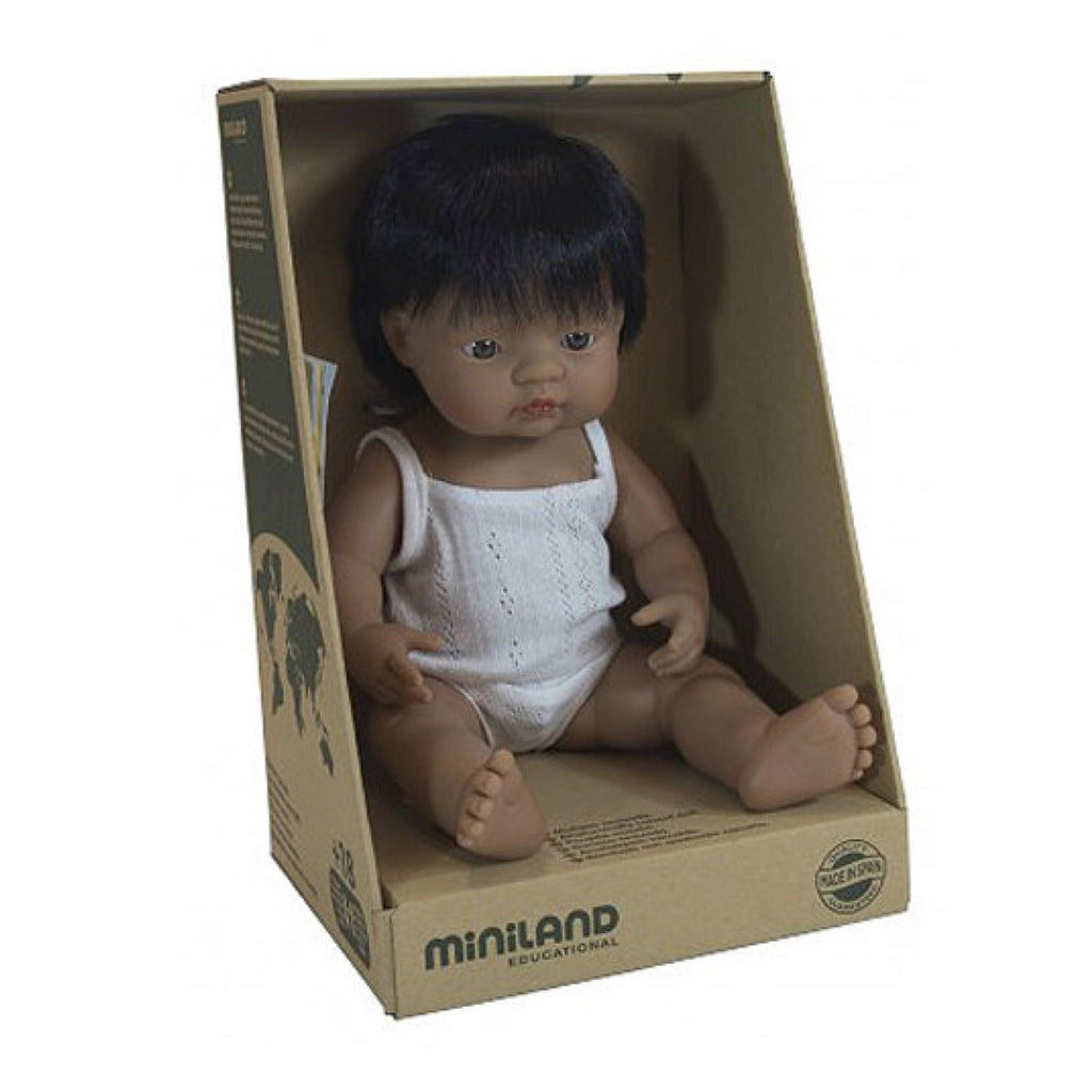 Miniland - 38cm Hispanic Baby Doll Boy - Rourke & Henry Kids Boutique