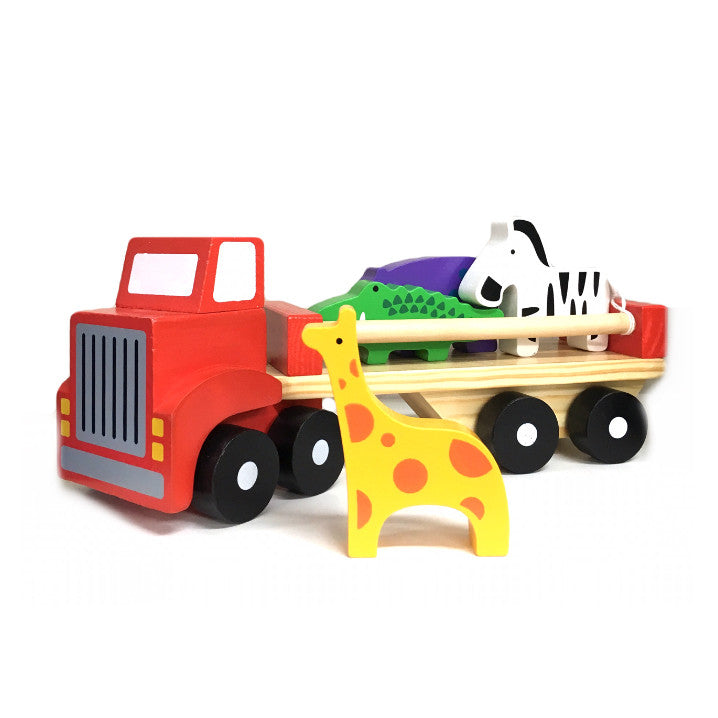 Wooden Animal Carrier Truck - Rourke & Henry Kids Boutique