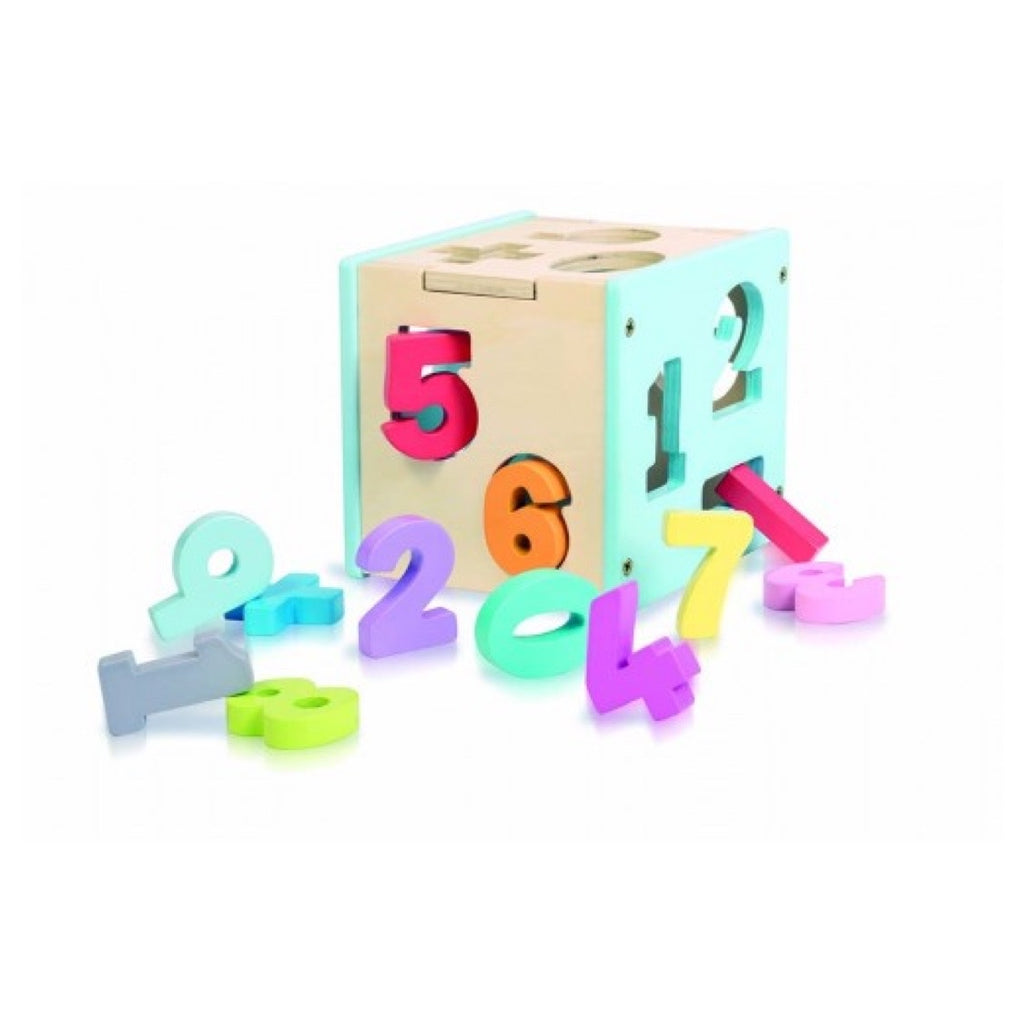 Wooden shape sorter and book - Numbers