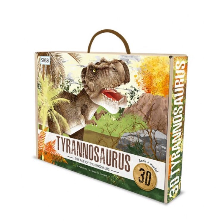 Sassi 3D Model & Book Set - The Age of Dinosaurs Tyrannosaurus - Rourke & Henry Kids Boutique