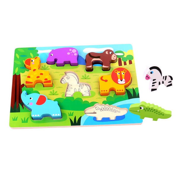 Chunky puzzle - Safari animals - Rourke & Henry Kids Boutique