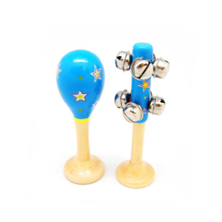 Maraca & Bell Set Small - Blue - Rourke & Henry Kids Boutique