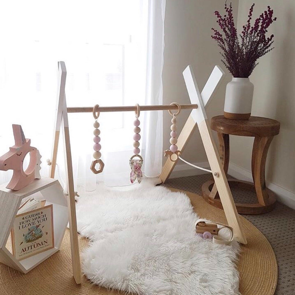 EMB Creations - Wooden Play Gym White - Rourke & Henry Kids Boutique