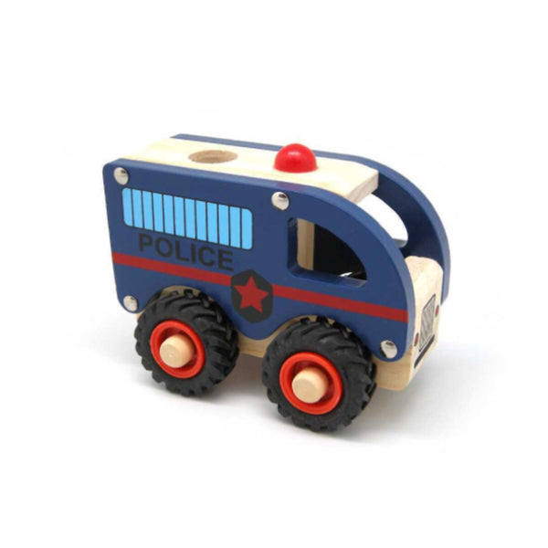 Wooden Vehicle - Police - Rourke & Henry Kids Boutique