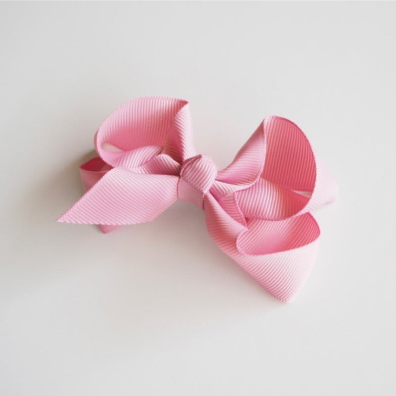 Snuggle Hunny Kids - Clip Bow Medium Dusty Pink