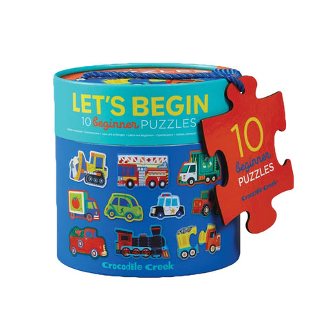 Crocodile Creek - Let's Begin 2 Piece Puzzle Transport